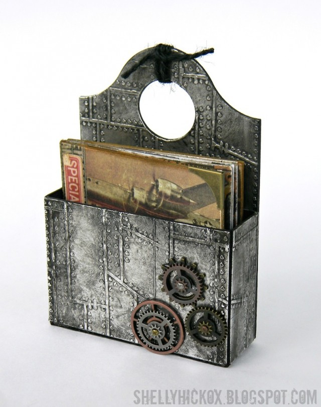 Art with Heart June Challenge {Summer Celebrations} Father's Day Mini-Book & Industrial Caddy by Shelly Hickox | Eileenhull.com