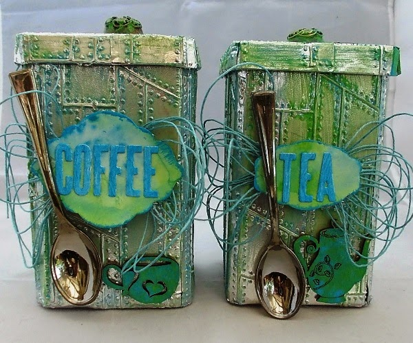 Vintage Kitchen Sneak Peek : Coffee and Tea Canisters by Tracy Evans  Eileenhull.com
