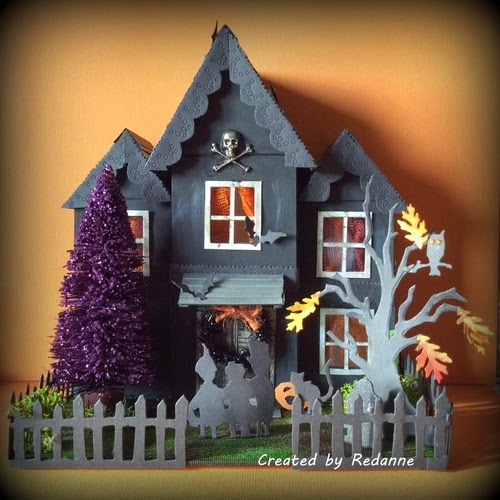 Spook tacular sizzix projects eileen hull for How to make a cardboard haunted house