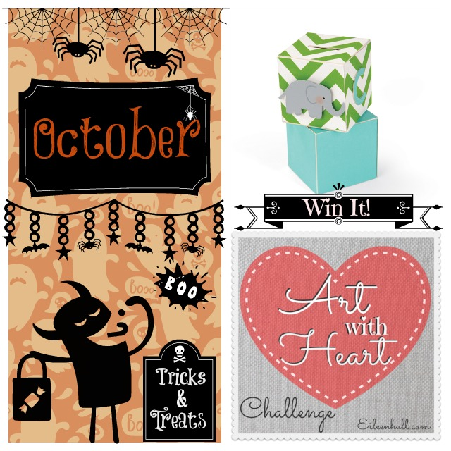 "Art with Heart Challenge October ""Tricks & Treats"" Sizzix Prize Pack 