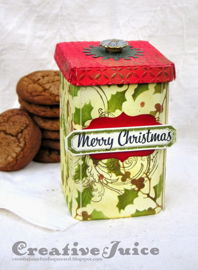 Vintage Kitchen Holiday Cookie Canister Tutorial by Lisa Hoel | Eileenhull.com