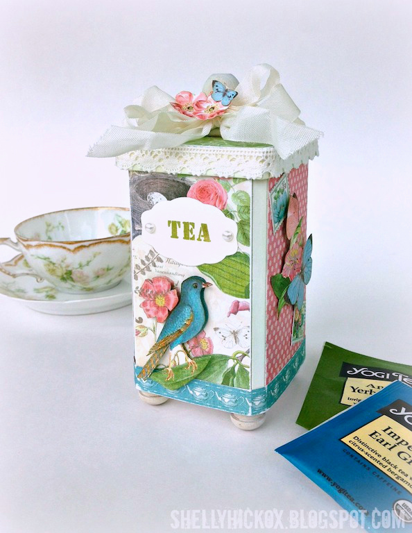 Vintage Kitchen Tea Caddy by Shelly Hickox | Eileenhull.com