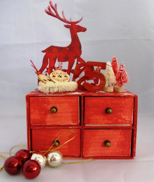 Merry Advent Chest of Drawers by Tracy Evans