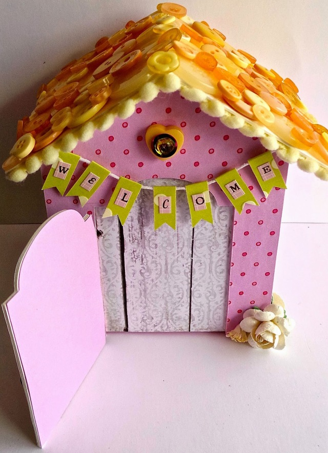 Welcome Baby Button House by Creative Addiction to Paper