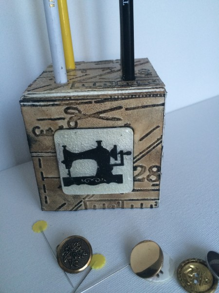 Quilting Pencil Holder ATB by Diana Hetherington