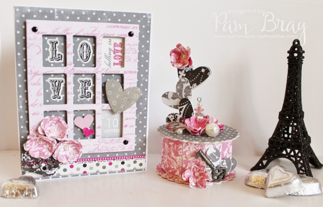 Be Mine Window Box Card and Cookie Box by Pam Bray