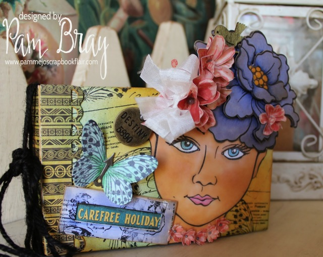 Carefree Holiday Sizzix Album with Stampendous by Pam Bray