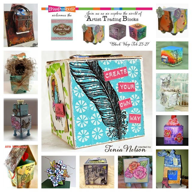 Stampendous and Eileen Hull Artist Trading Block Hop