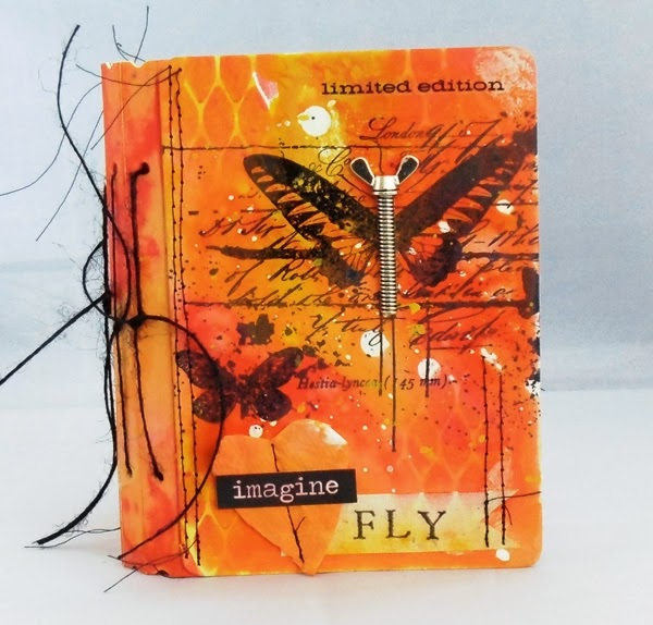 Distress Painted Vintage Travel Passport Book by Tracy Evans | Eileenhull.com
