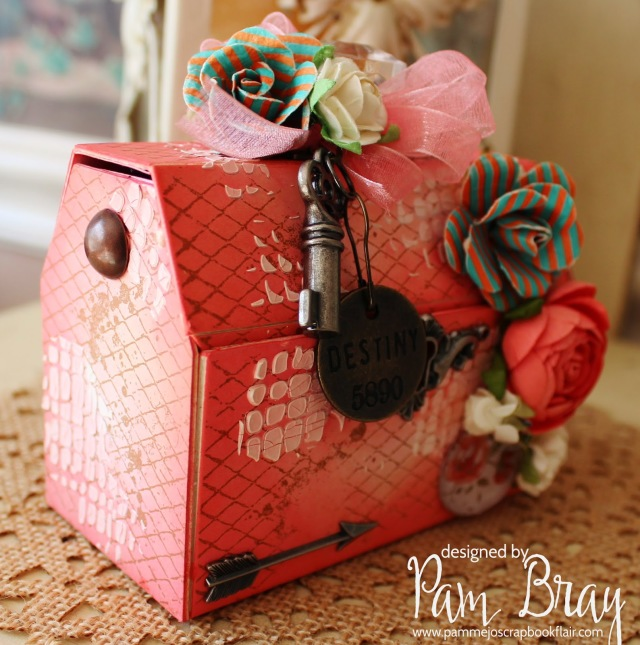 Vintage Travel Tool Box with DecoArt Media and Stampendous by Pam Bray