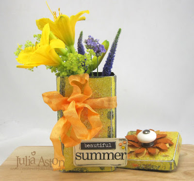 Blooming Sizzix Vintage Kitchen Canister by Julia Aston