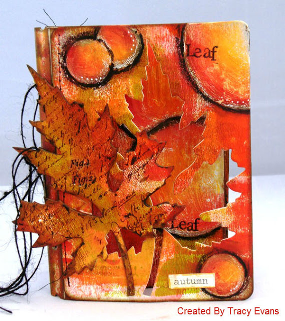 Fall Sizzix Passport Book Tutorial with DecoArt Media by Tracy Evans