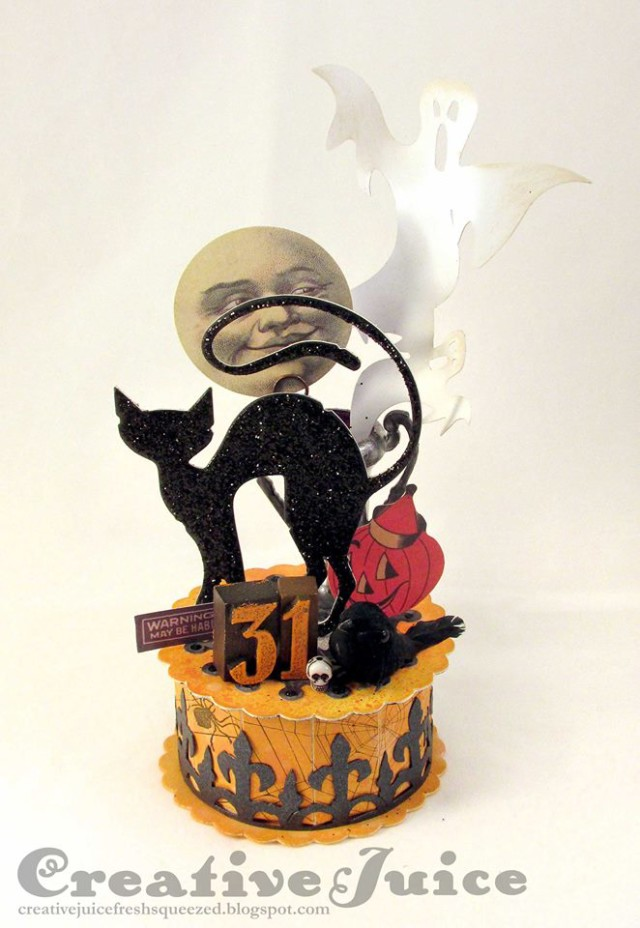 Graphic 45 and Sizzix Halloween Cookie Box by Lisa Hoel