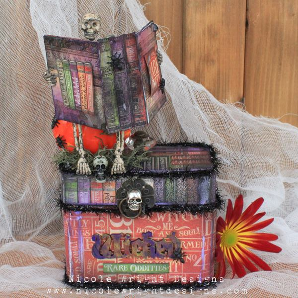 Sit for a Spell Graphic 45 Rare Oddities Sizzix Train Case by Nicole Wright