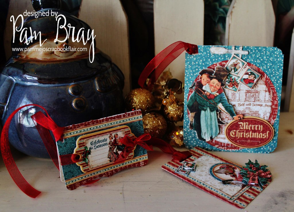 Sizzix Holiday Tag Set with Graphic 45 Christmas Carol by Pam Bray