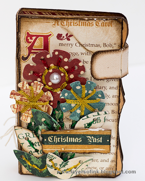 Vintage Christmas Needle Book Tutorial with Sizzix Stitchlits by Anna-Karin Evaldsson