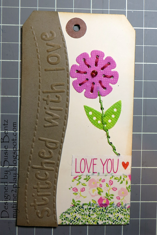 1 Stitched With Love Tag by Susie Bentz for Eileen Hull Sizzix