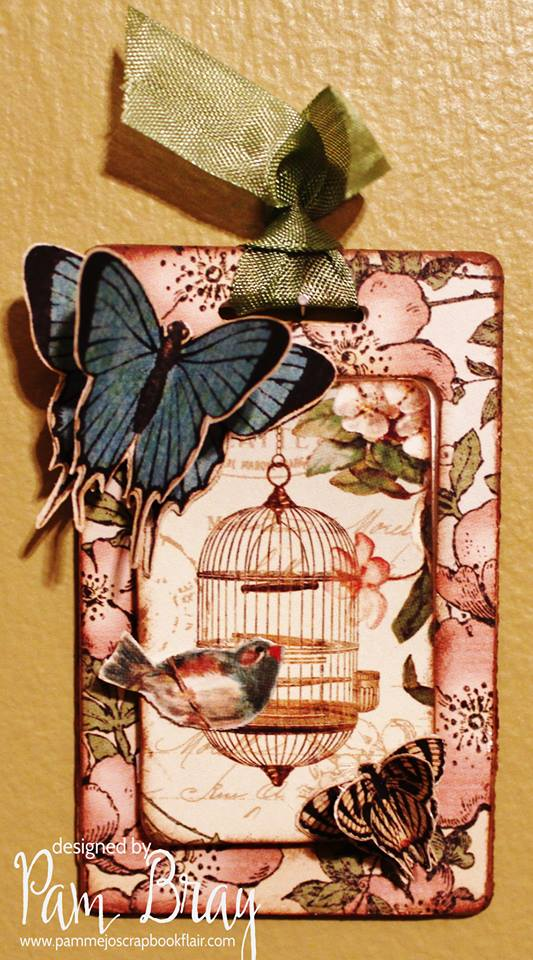 Quick and Easy Sizzix Luggage Tag Tutorial with Graphic 45 Secret Garden by Pam Bray