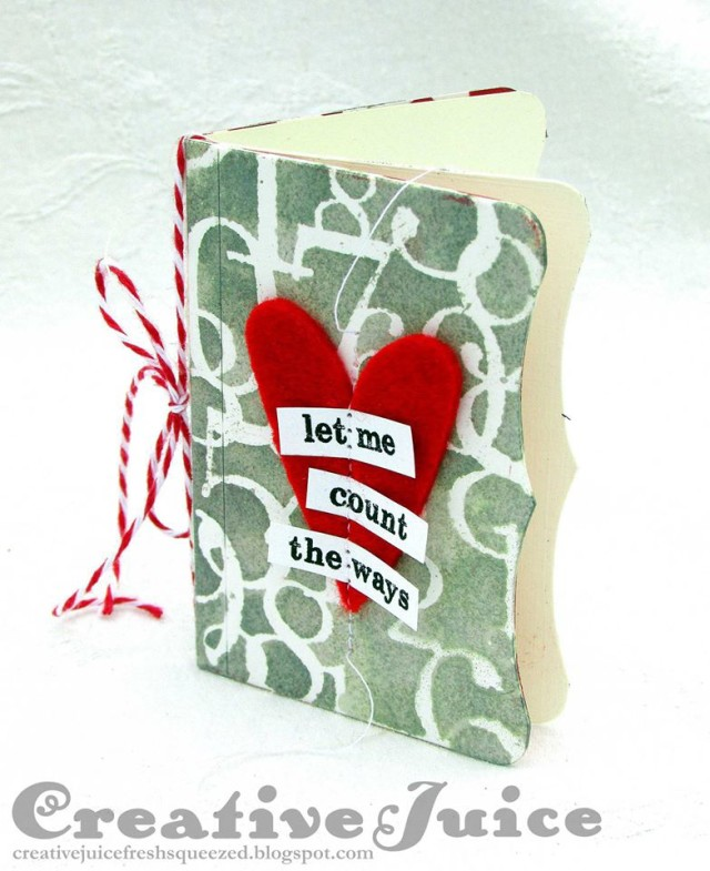 Quick and Easy Sizzix Needle Book Love Notes Booklet Tutorial by Lisa Hoel