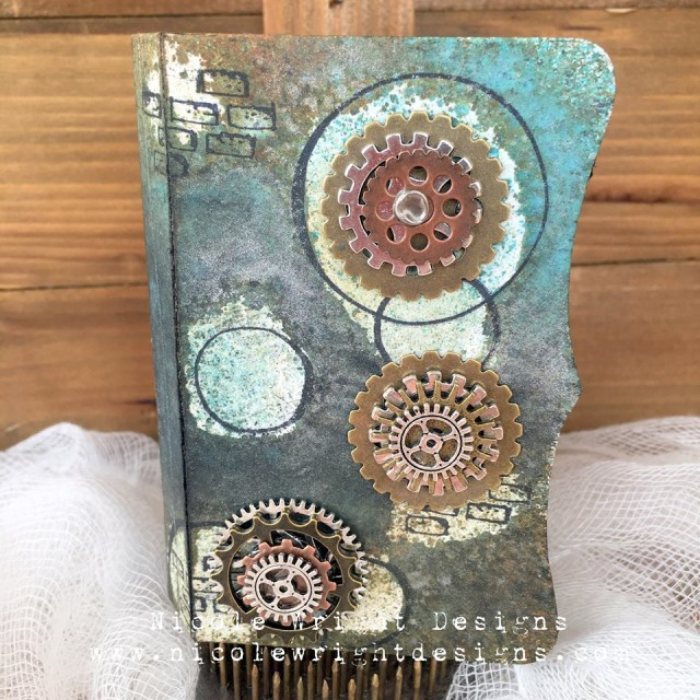 Mixed-Media Sizzix Needle Book Keepsake Tutorial with Stampendous by Nicole Wright