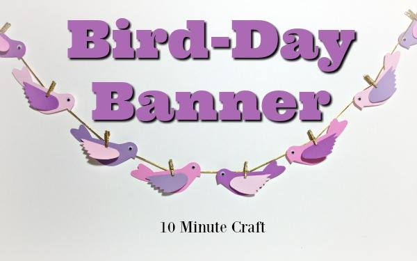Quick and Easy Sizzix Bird Banner Tutorial by Michelle Zerull