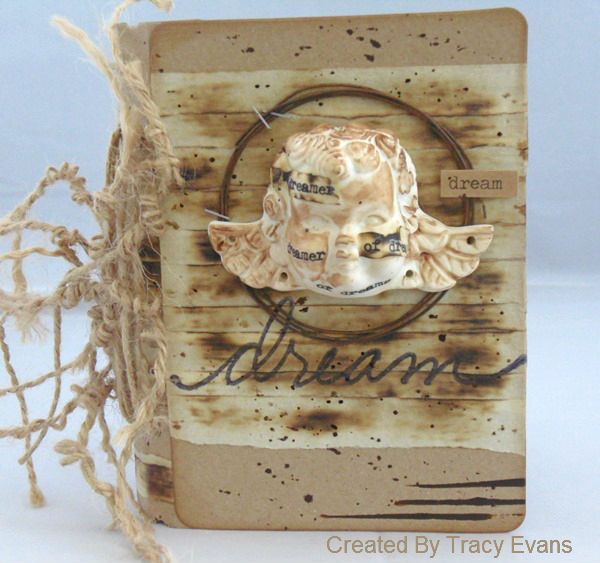 Clean and Simple Sizzix Passport Book with DecoArt Media by Tracy Evans