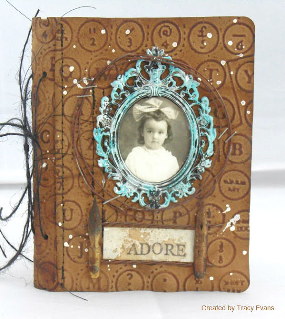 Sizzix Paper Leather Passport Book Tutorial by Tracy Evans