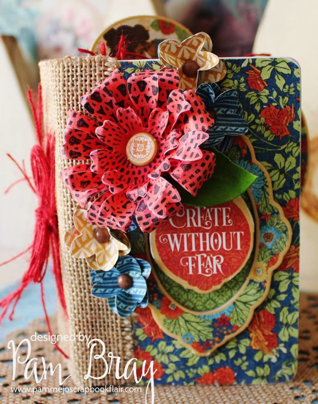 Sizzix Paper Flower Party Passport Book by Pam Bray