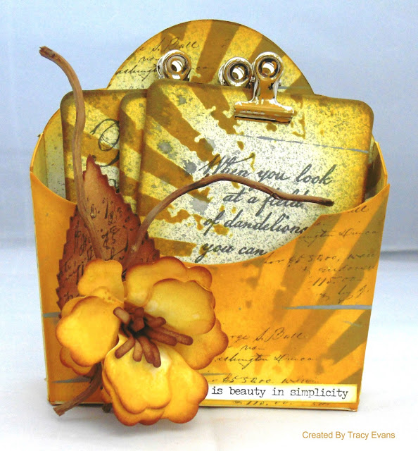 Sizzix Paper Flower Party Flower Pocket with Seed Cards by Tracy Evans