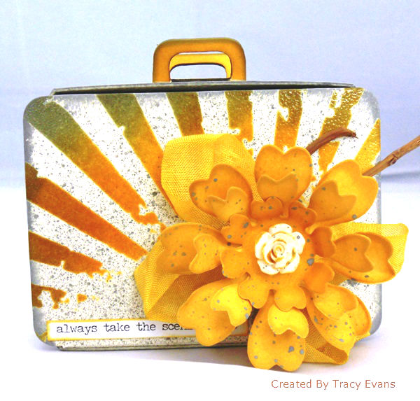 Sizzix Paper Flower Party Suitcase by Tracy Evans