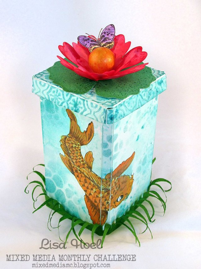 Koi Pond Canister with Sizzix Paper Flower Party by Lisa Hoel