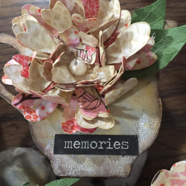 New Sizzix Paper Flower Projects: Eileen Hull Paper Flower Tea-Cup Wall Hanging Tutorial by Diana Hetherington