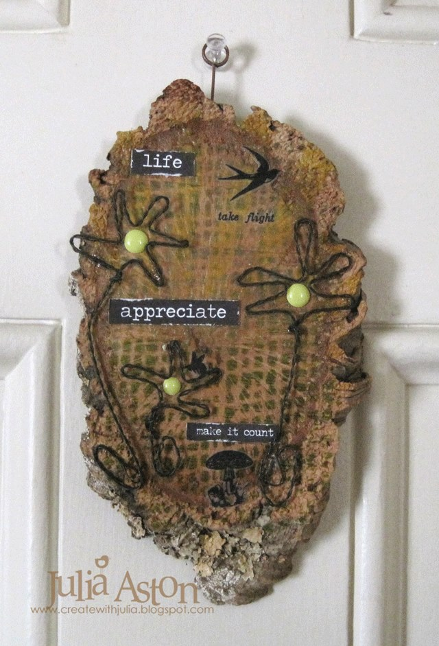 Sizzix Twist and Style Tutorials: Wired Blooms Organic Wall Hanging by Julia Aston
