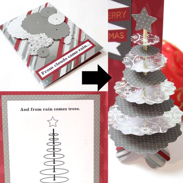 Creative Cards Using Sizzix Dies : Interactive Holiday Tree Card with DCWV by Jonathan Fong
