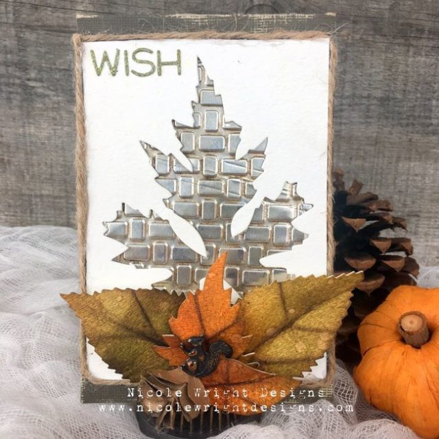 Creative Cards Using Sizzix Dies : Negative Space Leaf Card by Nicole Wright