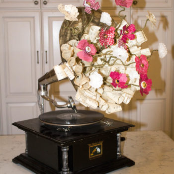 Paper Flower Gramophone by Ritzy Parties