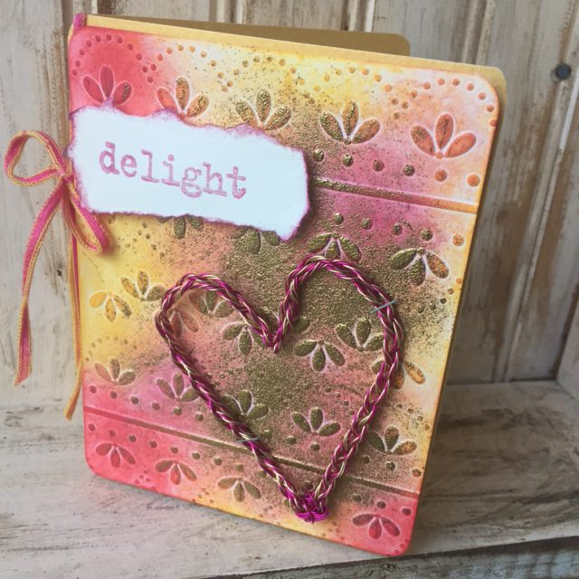 Eileen Hull's Make it Monthly: Twist and Style Heart Card Technique with Clearsnap Blends