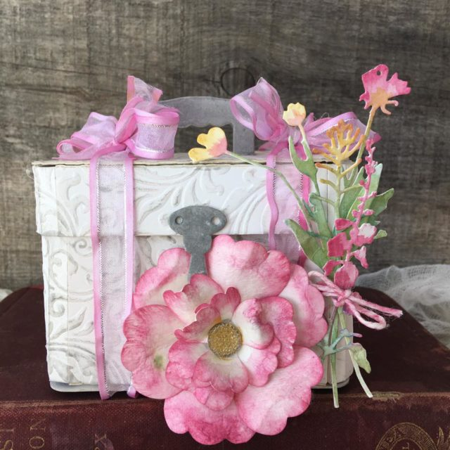 Creative ColorBox Blends Project Ideas: Floral Train Case by Nicole Wright