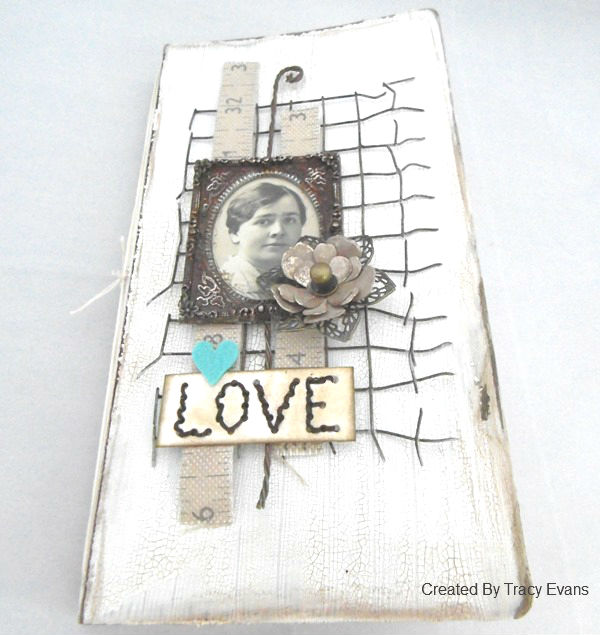Eileen Hull's Heartfelt Sizzix Collection :Wired and Stitched Mixed-Media Journal by Tracy Evans