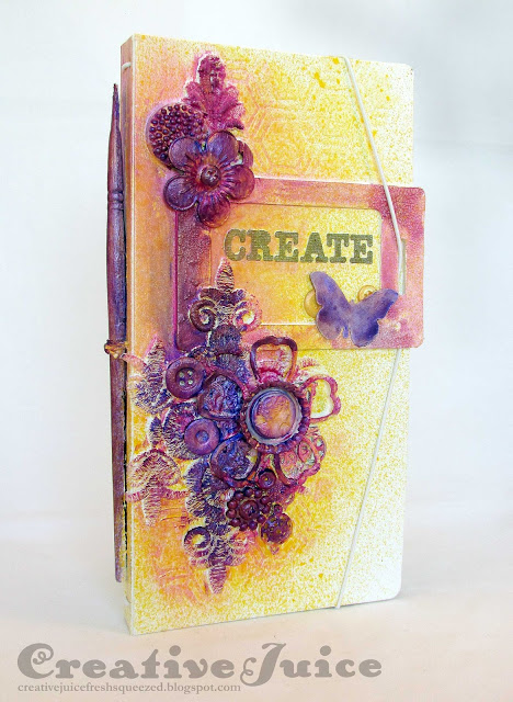 Eileen Hull's Heartfelt Sizzix Collection : Colorful Mixed Media Sizzix Journal by Lisa Hoel