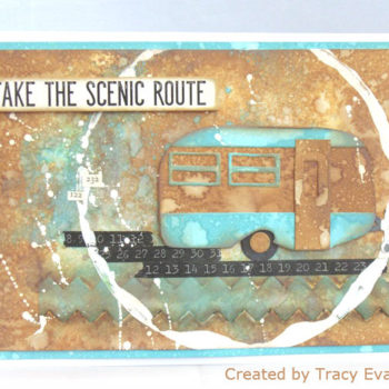 Sizzix Travel Trailer Card with Distress Oxides Technique