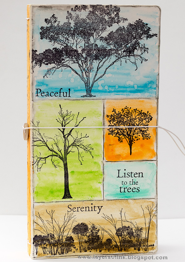 HeARTfelt Journal Tutorials: Tree Sketch Journal by Anna-KArin Evaldsson