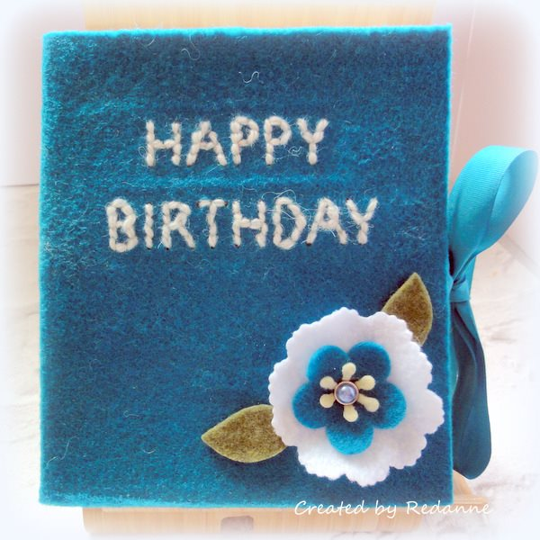 Make it Monthly: Felt Book Box Tutorial with Eileen Hull Sizzix dies and Kunin Felt by Anne Redfern