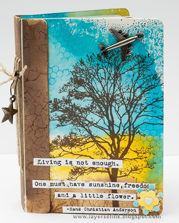 Eileen Hull Sizzix Projects with Stampotique: For the Love of Airplanes Passport Book by Anna-Karin Evaldsson