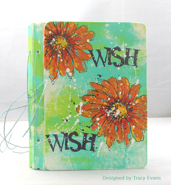 Heartfelt Sizzix Collection with Stampotique: Stamped Passport Book Mini Album by Tracy Evans